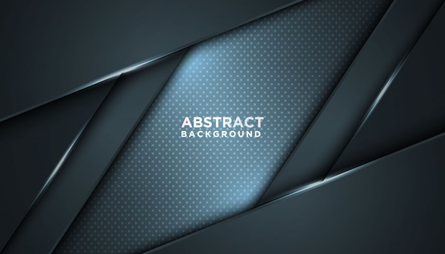 Dunkler abstrakter hintergrund mit überlappungsschichten. luxus-design-konzept.