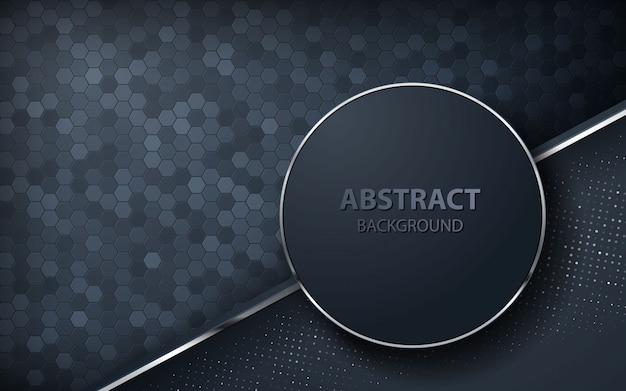 Dunkler abstrakter hintergrund mit überlappungsschichten