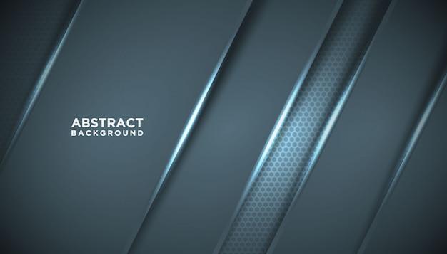Dunkler abstrakter hintergrund mit überlappungsschichten.