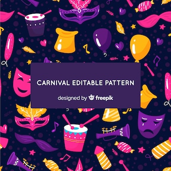 Dunkler brasilianischer karnevalshintergrund