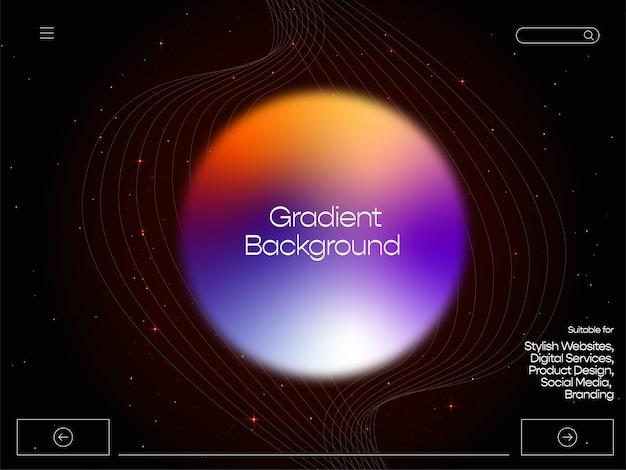 Dunkler galaxy-farbverlauf-hintergrund