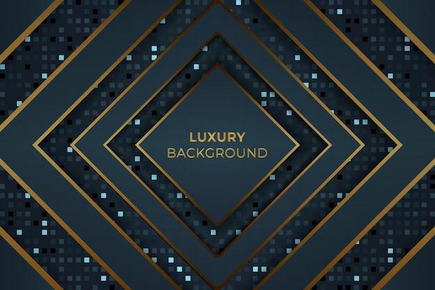 Dunkler goldener blauer luxushintergrund-vektor