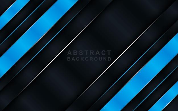 Dunkler hintergrund der modernen technologie mit blauen deckungsschichten.
