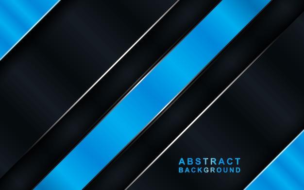 Dunkler hintergrund der modernen technologie mit blauer abstrakter art.