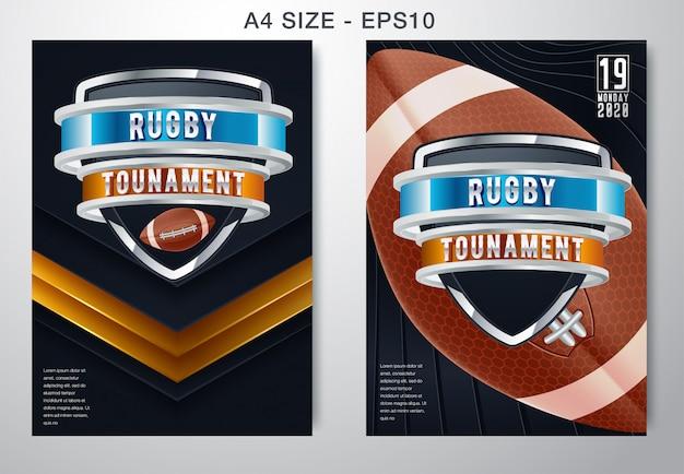 Dunkler hintergrund des amerikanischen fußballs und des rugbysports