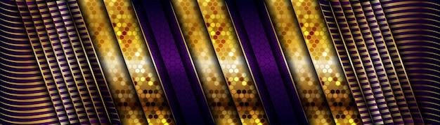 Dunkler hintergrund des modernen luxus mit den goldenen elementen der linie