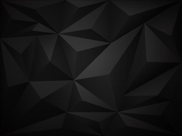 Dunkler hintergrund des polygons 3d