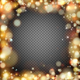 Dunkler hintergrund mit bokeh-effekt