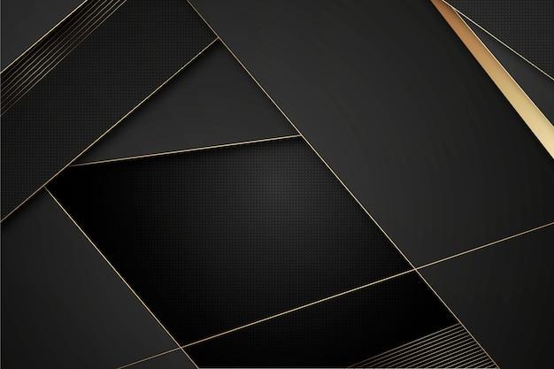 Dunkler hintergrund mit goldenem detailthema
