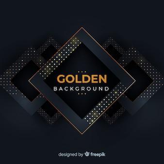 Dunkler hintergrund mit goldenem halbtoneffekt