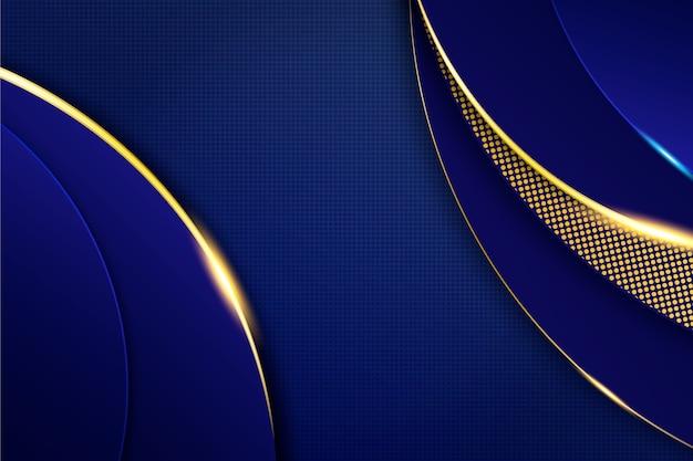 Dunkler hintergrund mit goldenen details