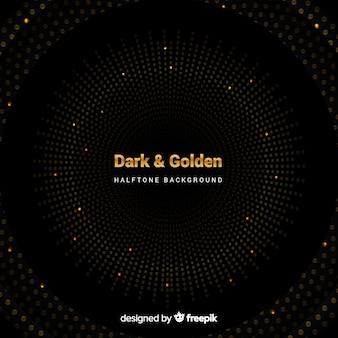 Dunkler hintergrund mit goldenen funken