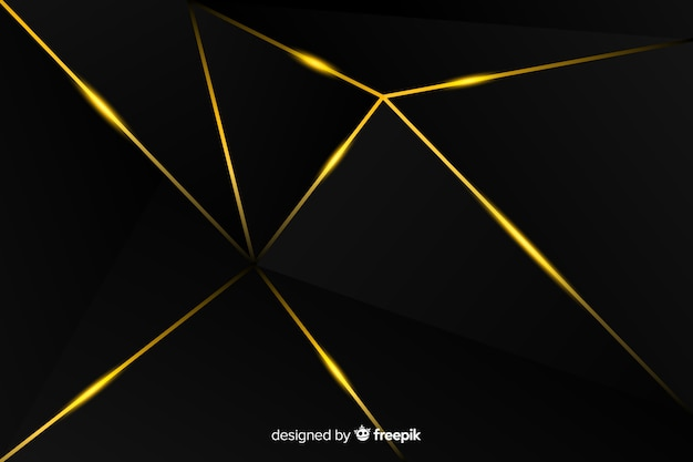 Dunkler hintergrund mit goldenen linien