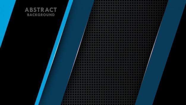 Dunkler hintergrund mit hellblauen abstrakten formen