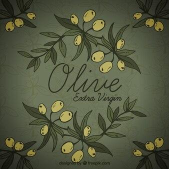 Dunkler hintergrund mit oliven