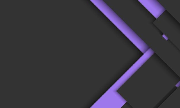 Dunkler hintergrund mit schwarzen und lila geometrischen streifen, die sich mit schatten überlappen