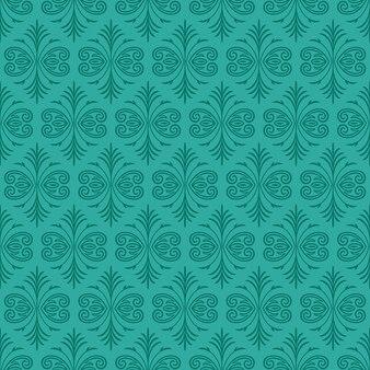 Dunkler jade-ornamental-hintergrund mit knickenten-pelz