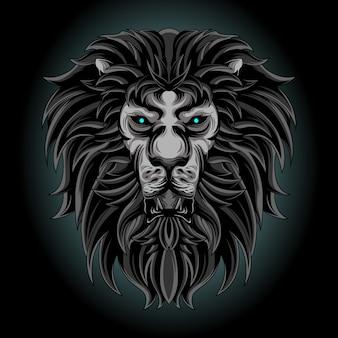 Dunkler löwe