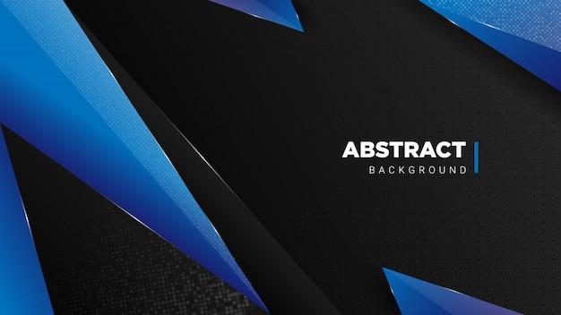 Dunkler luxushintergrund mit blauen abstrakten formen