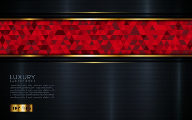 Dunkler luxushintergrund mit rotem mosaik.