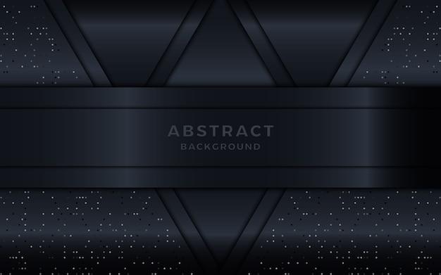 Dunkler metallischer abstrakter schichthintergrund mit punkten.