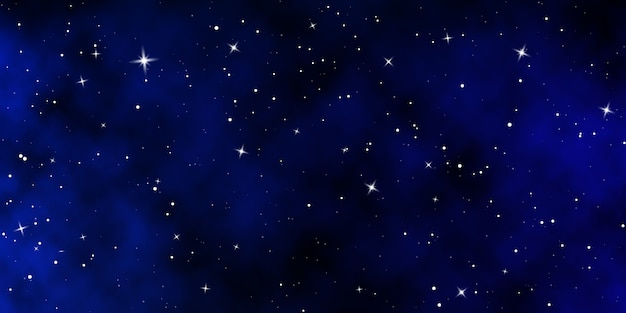 Dunkler nachthimmel. sternenhimmel farbhintergrund. unendlichkeitsraum mit glänzenden sternen.