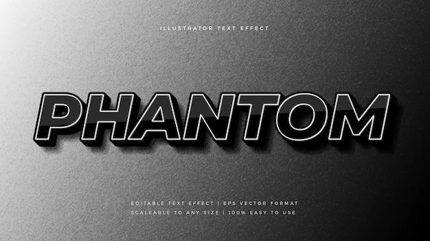Dunkler phantomtextstil-schrifteffekt