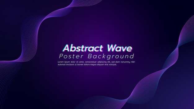 Dunkler purpurroter ton des abstrakten hintergrundes mit kurvenlinie. illustration über technologie- und innovationskonzept.