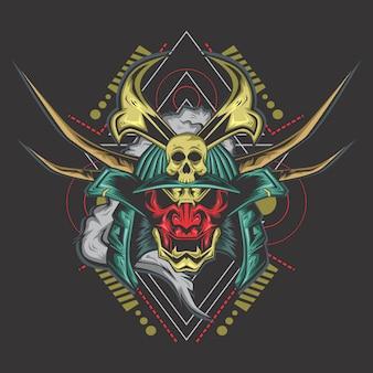Dunkler samurai