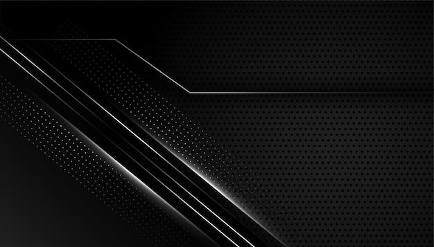 Dunkler schwarzer hintergrund mit silbernen linien