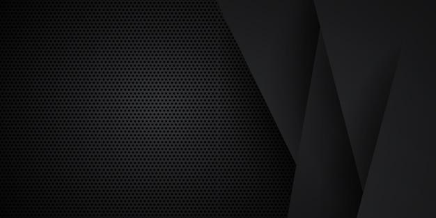 Dunkler schwarzer neutraler abstrakter hintergrund für präsentationsdesign