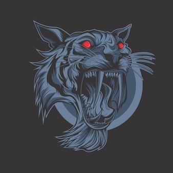 Dunkler tiger