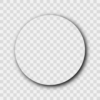 Dunkler transparenter realistischer schatten. kreisschatten isoliert auf transparentem hintergrund. vektor-illustration.