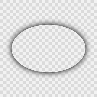 Dunkler transparenter realistischer schatten. ovaler schatten lokalisiert auf transparentem hintergrund. vektor-illustration.