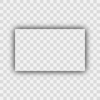 Dunkler transparenter realistischer schatten. rechteckschatten auf transparentem hintergrund isoliert. vektor-illustration.