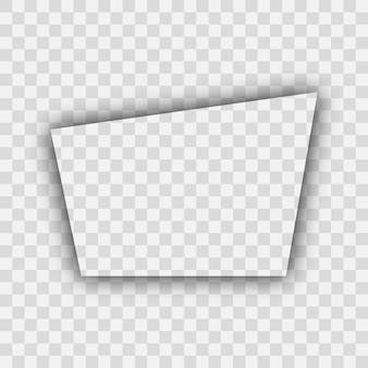 Dunkler transparenter realistischer schatten. trapezförmiger schatten lokalisiert auf transparentem hintergrund. vektor-illustration.