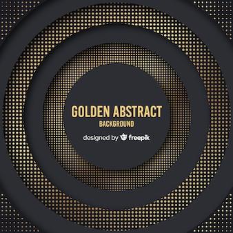 Dunkler und goldener halbtonhintergrund