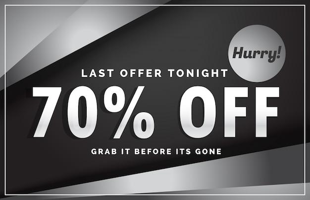 Dunkler verkauf banner design mit angebotsdetails für ihre business promotion