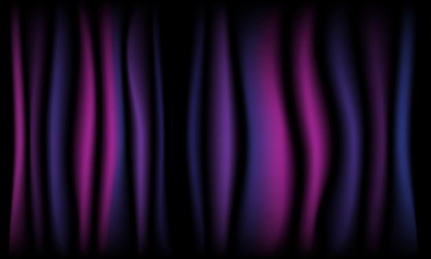 Dunkler violetter hintergrund des theatervorhangs mit licht
