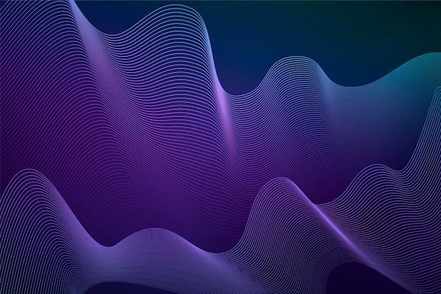 Dunkler wellenförmiger hintergrund mit steigungsfarben