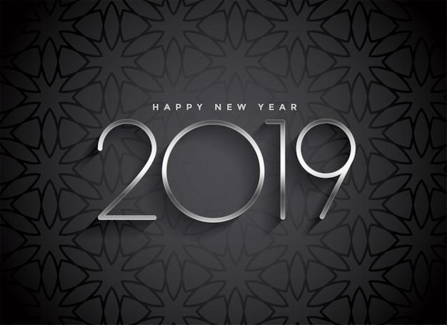Dunkles elegantes hintergrunddesign 2019