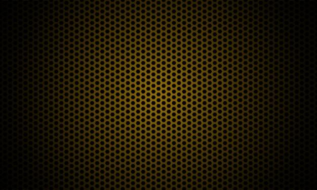 Dunkles gold. dunkle sechseck-kohlefaser-textur.