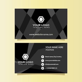 Dunkles luxuriöses goldenes visitenkarten-vorlagendesign zum drucken bereit