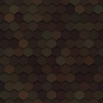 Dunkles nahtloses muster der hexagon-technologie-3d