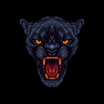 Dunkles panther-logo