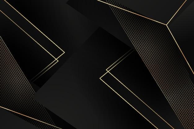 Dunkles papier überlagert hintergrund mit goldenen details