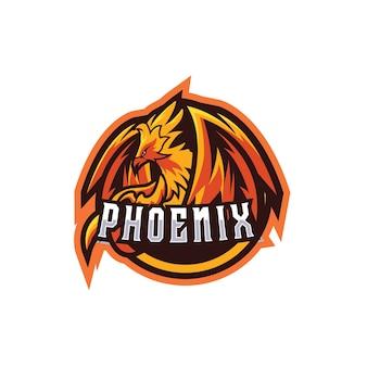 Dunkles phoenix e sport-logo