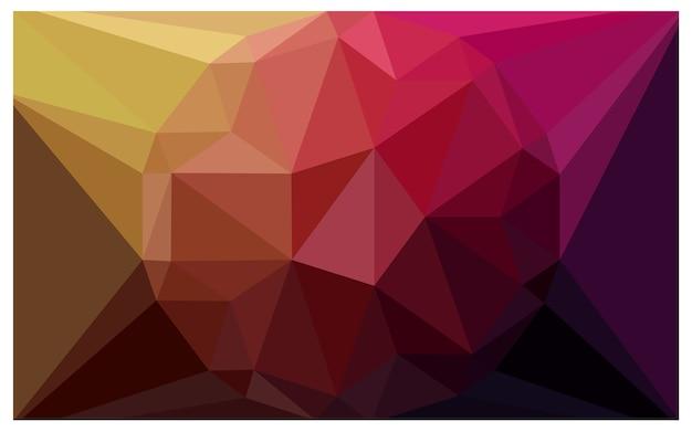Dunkles rosa gelbes vektordiamant muster