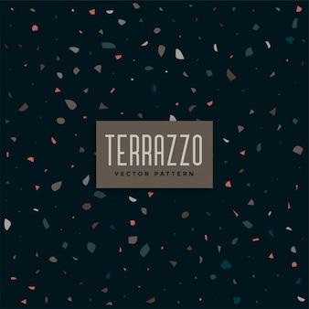 Dunkles terrazzo-musterhintergrunddesign