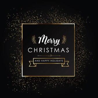 Dunkles weihnachts-typografie-poster